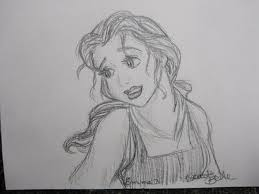 pencil sketch barbie face drawing sketch