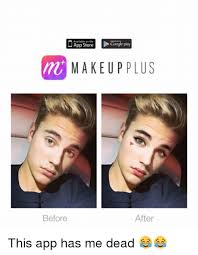 Funny Meme App - available on the google play makeup plus before after this app has