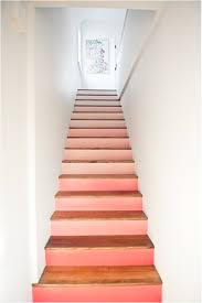 ombre stairs peach honeysuckle coral pink paint color