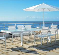 Aluminum Patio Dining Table Aluminum Outdoor Extension Dining Table Modern Patio Chicago