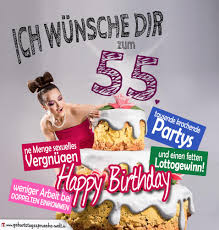sprüche zum 55 geburtstag glückwünsche geburtstagskarte 55 geburtstag mit torte