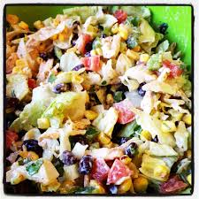 southwestern chopped chicken salad greens u0026 chocolate