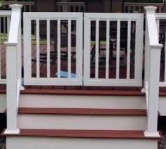 vinyl deck gate kits vinyl railing gates yourrailing com for