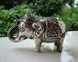 antique brass mini lucky elephant statue feng shui elephant