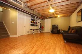 Partially Finished Basement Ideas Basement Flooring For Unpredictable Oregon Weather
