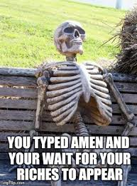 Typed Memes - waiting skeleton meme imgflip