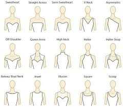 the best wedding dress necklines woman getting married