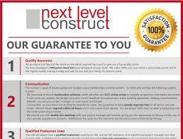 guarantee next level construct