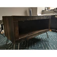 etsy reclaimed wood media console aptdeco