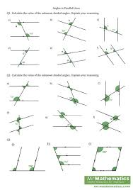 angles parallel lines worksheet free worksheets library download
