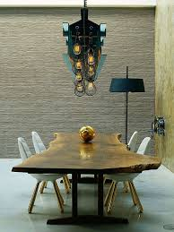 Dining Table Styles Love It Live Edge Table Paired With Eames Style Chairs With Gold