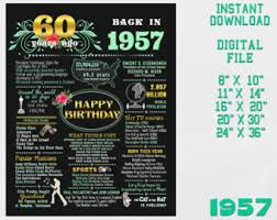 gift for turning 60 60th birthday sign chalkboard poster turning 60 born in
