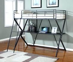 black metal twin loft bed with desk metal loft bed with desk bunk bed with desk and futon chair