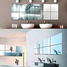 Mirrored Bathroom Wall Tiles - adhesive wall mirror tiles roselawnlutheran