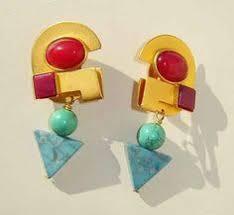 80s earrings vintage 80s earrings mod op black white dangle drop