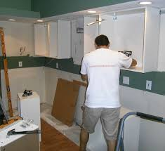 Install Kitchen Cabinet Install Kitchen Cabinets How To Install A Kitchen Cabinet Light