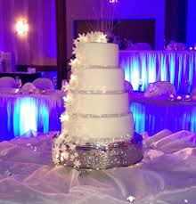 heath and caseys wedding cake snowflakes and bling covered with