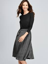 talbots mixed media dress dresses things to wear