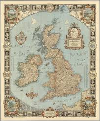 Map Of The British Isles A Modern Pilgrim U0027s Map Of The British Isles David Rumsey