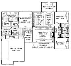 House Plans With Screened Porch European Style House Plan 3 Beds 2 50 Baths 2200 Sq Ft Plan 21 191