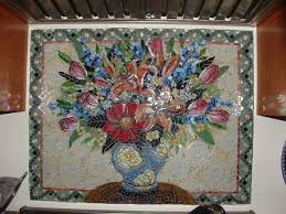 Stained Glass Backsplash by 43 Best Mosaic Still Life Images On Pinterest Stained Glass