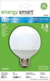 ge led light bulbs ge lighting 76464 energy smart led 2 8 watt 15 watt replacement 80