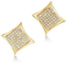 s diamond earrings 47 square cut diamond earrings amazoncom princess square cut cz