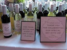 wine bottle favors small wine bottles wedding favors