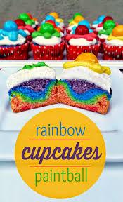i used duff goldman u0027s tie dye cake mix to make paintball cupcakes