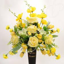 In Loving Memory Vase In Loving Memory Yellow Memorial Grave Vase Artificial Flower