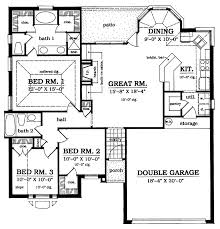 plan42 european style house plan 3 beds 2 baths 1373 sq ft plan 42 517