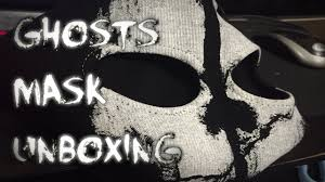 call of duty ghost mask unboxing youtube