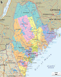 Road Map Of Usa With States And Cities by Detailed Clear Large Map Of Maine Ezilon Maps