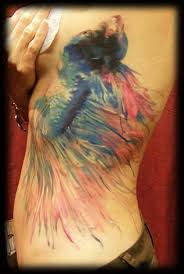 betta fish watercolor tattoo pictures to pin on pinterest tattooskid