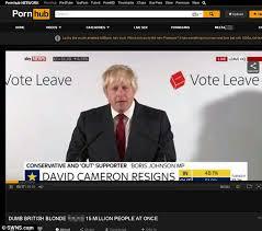 Pornhub Meme - boris johnson s brexit speech is uploaded as a pornhub video by