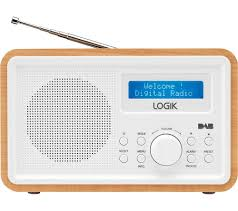 buy logik lhdr15 portable dab fm clock radio light wood u0026 white