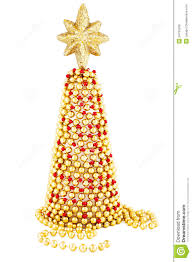 red and gold hand made christmas tree royalty free stock image