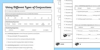 prepositions and conjunctions worksheets mediafoxstudio com