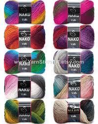premium acrylic yarn by nako vals 100gr 240m knit crochet cardigan