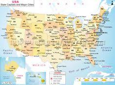us map 50 states us map shows the 50 states boundary their capital cities along