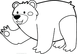 christmas coloring pages teddy bear cute animal cave
