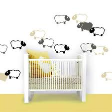 nursery wall stickers animals baby nursery ideas easy baby image of black and white sheep nursery wall stickers decor