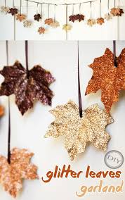 diy glitter leaves garland top easy design idea for thanksgiving