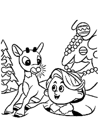 rudolph hermey santa elves coloring pages rudolph hermey
