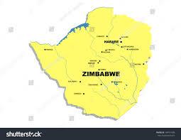 Zimbabwe Map Simple Map Zimbabwe Stock Illustration 148191608 Shutterstock