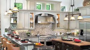 architecture elegant kitchen design with tin backsplash and paint