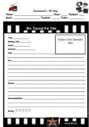 worksheet writing a film review