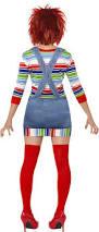 Halloween Costumes Chucky Smiffy U0027s Women U0027s Chucky Costume Jumper Dungarees Mask U0026 Wig