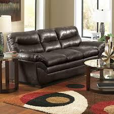 simmons soho bonded leather sofa espresso hayneedle