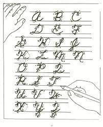 a to z cursive letters view cursive letters a z u0027s handwriting